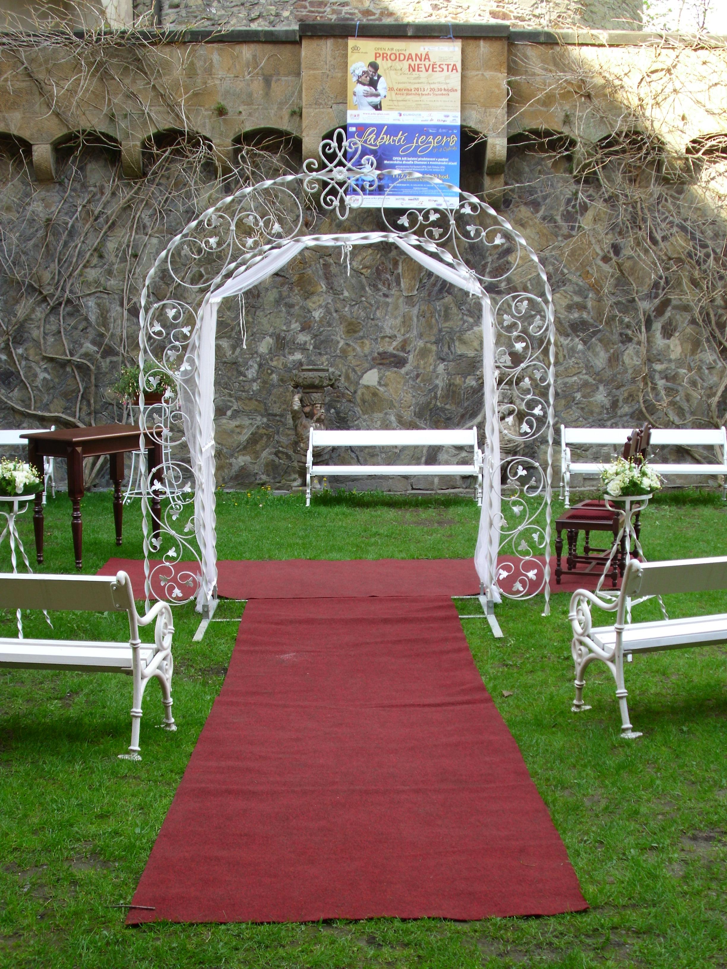 Svatební brána Princess s dekorací